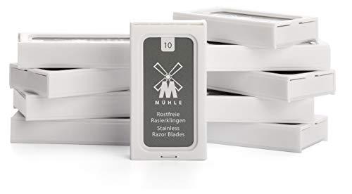 MÜHLE - 10er Pack Rasierklingen für traditionelle Sicherheitsrasierer
