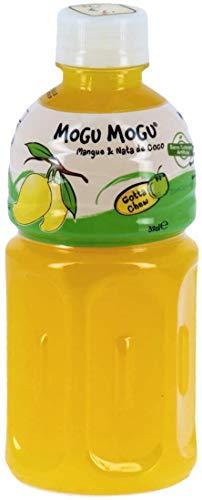 Mogu Mogu mangue 32 cl x 24 , nectar de mangue avec morceaux de noix de coco