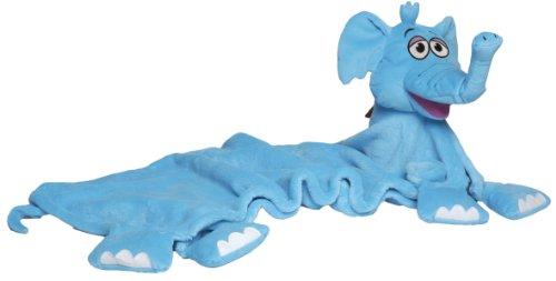 CuddleUpPets – Eléphant Bleu – Marionnette-Couverture 71x99cm (Import Royaume-Uni)