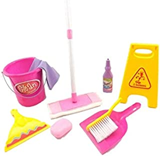 MeeYum Kids Little Helper Pretend Play Cleaning Set Housekeeping Toys Cleanup Toy Includes Mop, Bucket and Accessories