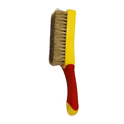 Cepillo de Zapatos, PC 1 Cepillo Multifuncional Cerdas de Mango de Silicona de plástico Se Pueden Usar eliminación de Polvo Pulido Limpiador de Zapatos Limpiador (Color : Red)
