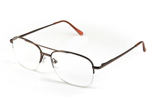 Optx 20/20 Aviator Reading Glasses, Coffee, 150