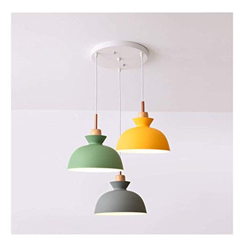 Lámpara de araña de techo para lámparas de techo, luces de techo, accesorios para dormitorio, sala de estar, restaurante, cafetería, hierro, pintura de madera