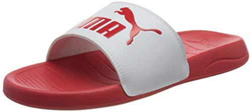 PUMA Unisex-Erwachsene Popcat 20 Schiebe-Sandalen, Poppy Red Puma Weiß, 40.5 EU