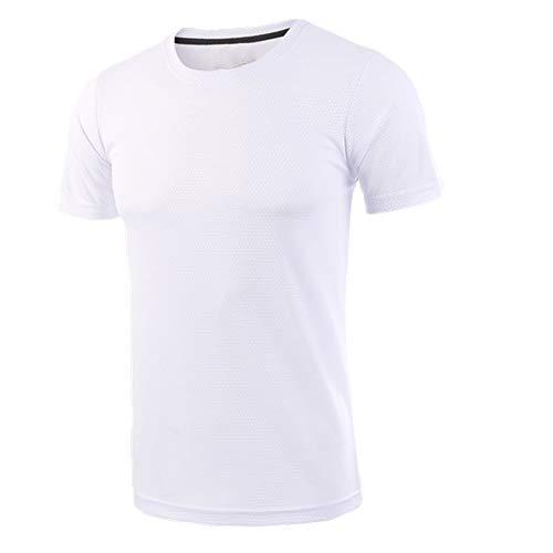 NP Camiseta de running para hombres de secado rápido transpirable deportes caminar...