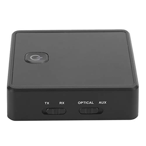 Cuifati Transmisor Bluetooth Receptor AUX 3.5mm Adaptador de Audio Plug and Play Mini portátil 3.5mm Jack Transmisor/Receptor inalámbrico Bluetooth para TV/PC/Smartphone/Coche