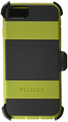 Pelican Voyager Rugged Case with Kickstand Holster for iPhone 6/6s - Retail Packaging - Green & Gray