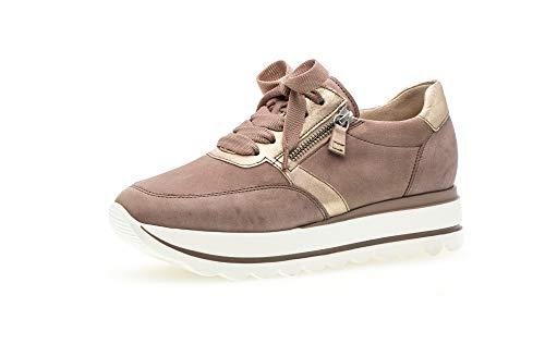 Gabor Damen Sneaker, Frauen Low-Top Sneaker,Best Fitting,Reißverschluss,Optifit- Wechselfußbett, Woman Freizeit leger,antikrosa/rame,40 EU / 6.5 UK
