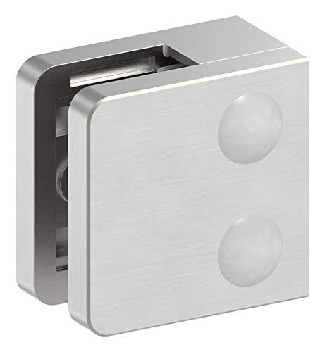 Glasklemme Modell 31, mit AbZ, flacher Anschluss, V4A für 10,76mm Glas
