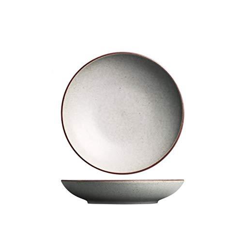 Hanpiyigcp Platos, Placa de Porcelana Poco Profunda, para Servir Cena Pan Mantequilla Cena Aperitivo Ensalada Postre Aperitivo