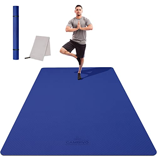 CAMBIVO Tappetino Yoga Fitness Extra Largo 183cm×120cm×6mm, Ecologico TPE Materiali, Tappetino Antiscivolo per Esercizi per Yoga, Pilates, Allenamenti