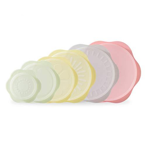 Chingde Silikon Frischhalte Abdeckung, Aufbewahrungsdeckel Frischhalte Deckel Dehnbare Silikondeckel für Schüsseln, Becher, Dosen, Pfannen,Obst und Mikrowelle und Kühlschränke, 6 Größen