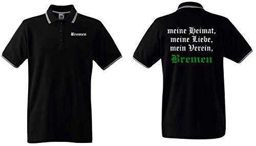 world-of-shirt / Bremen Herren Polo-Retro Meine Heimat, Mein Verein