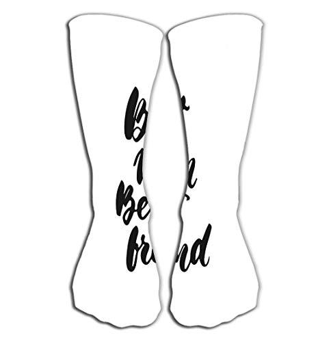 "Women's Girls Men's Novelty Over Calf Knee High Socks Funny Boot Sock 19.7""(50cm) best mom best friend hand drawn lettering phrase mother s day isolated white background fun brush ink inscription"