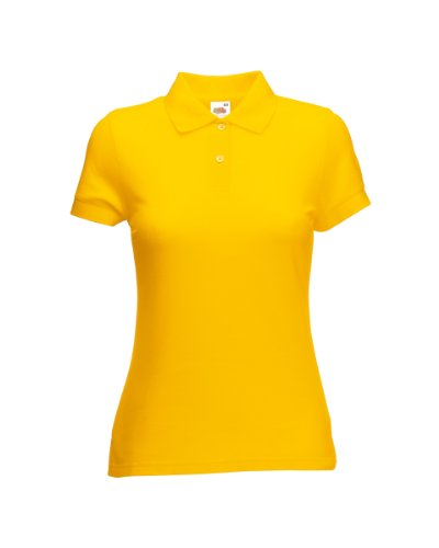 Polo para mujer, de Fruit of the Loom Amarillo Amarillo Girasol XXL - 101,60 cm Talla 46