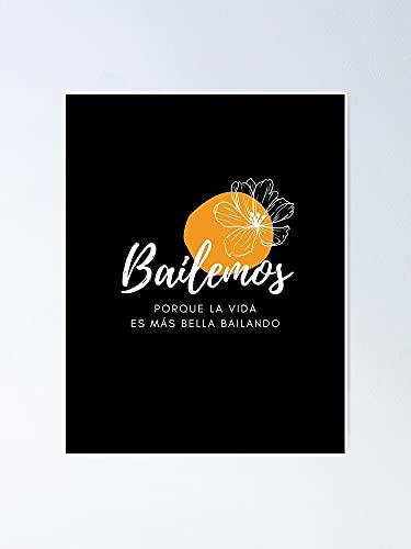 AZSTEEL Bailemos Let's Dance - Póster de color amarillo negro sin marco para decoración de oficina, el mejor regalo para familia y tus amigos