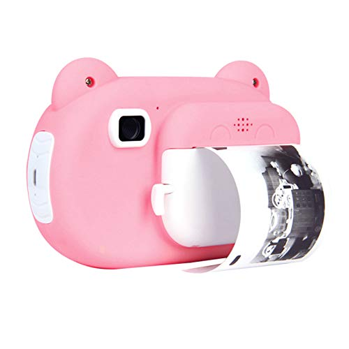 Aibecy Cámara de impresión instantánea para niños Cámara digital de 12MP Photo Selfie 1080P FHD Video Impresión térmica sin tinta, Tarjeta de memoria de 16GB 3 rollos de papel de impresión blanco