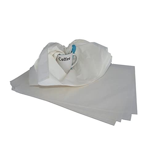 White Tissue Paper - 450x700mm. Pack of 500 Sheets. Cheap Unbleached General Purpose Packing Tissue. Ideal Protective Wrapping for Clothes & Garment Packaging. Great for Retail & Moving House as Interleaving & Carton Void Fill or Gap Filler. Recyclable, Scrunchable Paper Filling. From Packaging2Buy