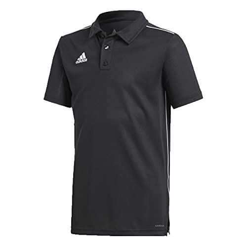 adidas Kinder CORE18 POLO Y Shirt, Black/White, 152