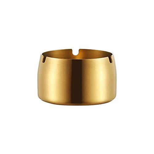 Zxcvbnm roestvrij staal hoge temperatuur druppelbestendige asbakken ronde woonkamer bureau bureau bureau bureau as opslag doos