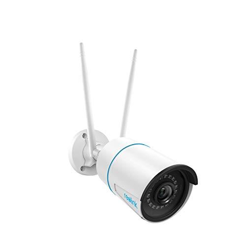 Reolink Caméra de Surveillance Extérieure WiFi 5MP, caméra IP CCTV WiFi 2,4GHz/5GHz avec Détection de Personne/Véhicule, Vision Nocturne Etanche IP66, Fente pour Carte Micro SD, Time-Lapse, RLC-510WA