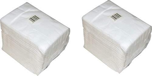 Toallas manicura Desechables de Spun-Lace, 30x40 cm, 2 Paquetes de 100 Unidades (200 Unidades)