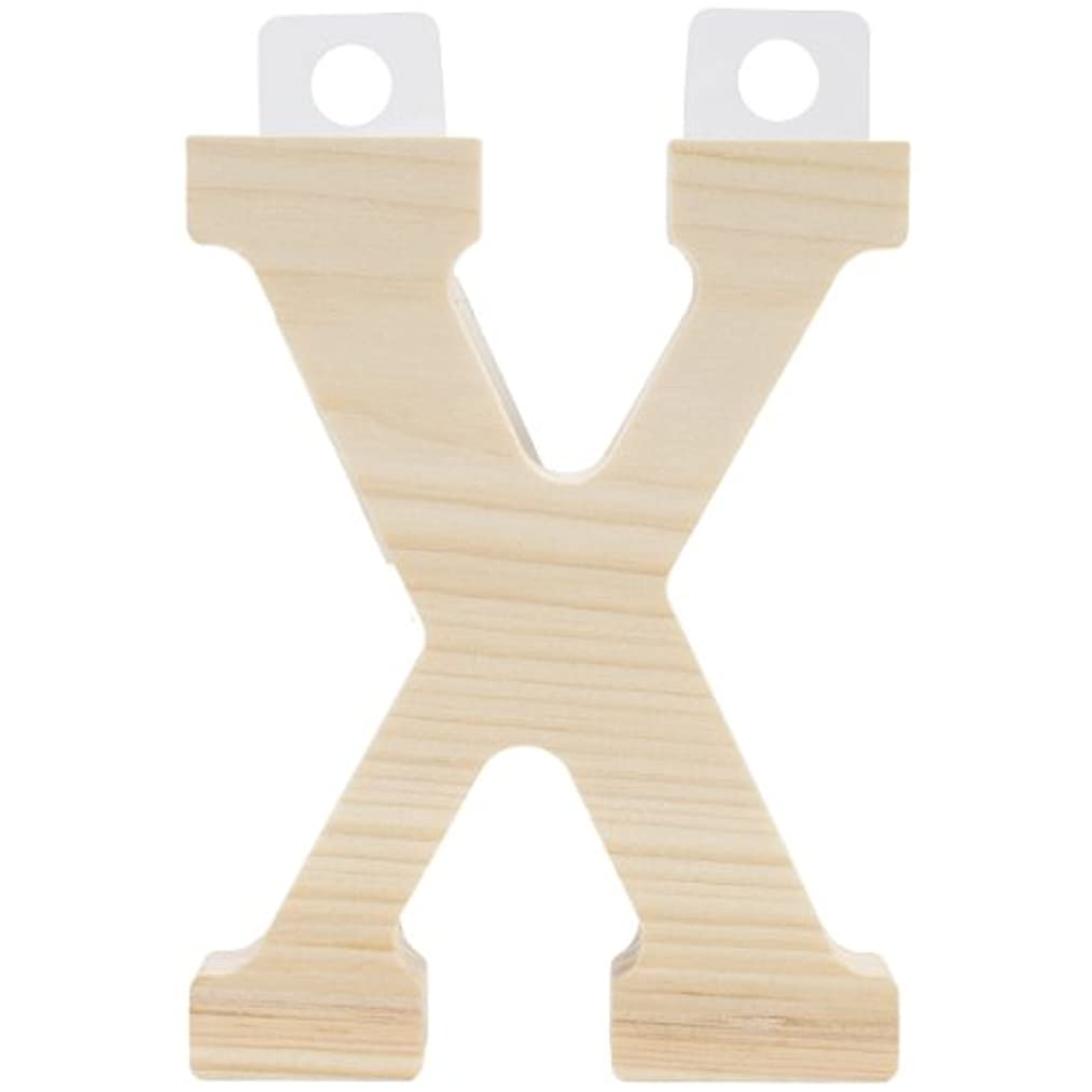 Walnut Hollow Wood Letter, 5 by 0.63-Inch, X