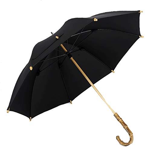 DWQ Paraguas al Aire Libre de Negocios británica Hecha a Mano Paraguas Rokko Rattan Mango Largo Paraguas de bambú Festival Negro