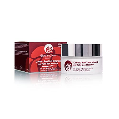 Crema Depigmentante Antimacchie. DERMOCOSMETICO MADE IN ITALY - Schiarente e Sbiancante per Macchie Viso Scure da iperproduzione di Melanina. Contiene filtri UVA-UVB. Professionale - 50ml