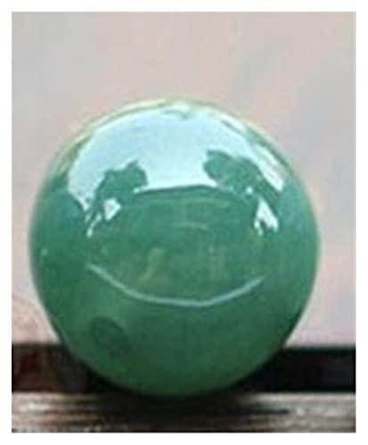 Natural Myanmar Green Jade Beads For DIY Jade Bracelets Jade Gift Jade Beads Necklace Bracelets For Women Christmas Bracelet Evil Spirits Money Drawing Wealth Fortune (Color : 13mm)