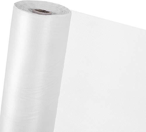 Hyishion muggennet voor deur en ramen, net van glasvezel met PVC-coating, kan gesneden en brandvertragend, nooit meer tegen onsecten, muggennet, wit, 0,8 m x 10 m
