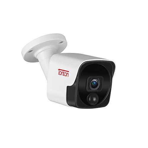 Tonton 5MP POE bewakingscamera, H.265+ HD waterdichte IP-camera voor thuis, veiligheid, binnen, buiten, videobewaking, nachtzicht tot 30 meter, mobiele telefoon en pc, afstandsbediening, voor Tonton PoE-bewakingsset