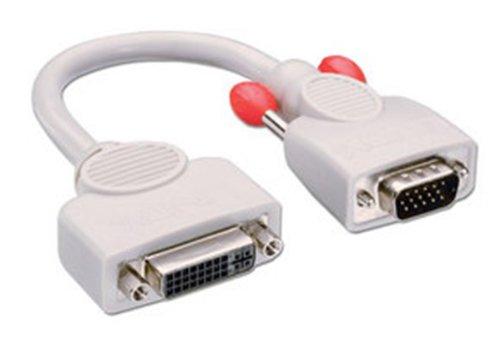 Lindy VGA to DVI Analogue Adapter Cable, 0.2m 0,2 m DVI-I VGA...