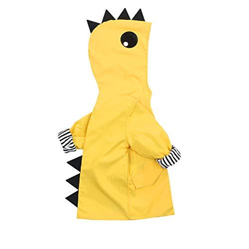 YOUNGER TREE Toddler Baby Boy Girl Dinosaur Raincoat Cute Cartoon Hoodie Zipper Coat Outfit (Dinosaur, 24 Months)
