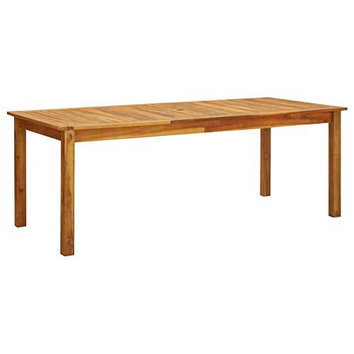 Tidyard Gartentisch Rustikal Witterungsbeständig Esstisch Holztisch Terrassentisch Tisch Gartenmöbel Balkontisch 200x90x74 cm Massivholz Akazie