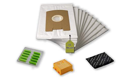 eVendix Filterset passend für Vorwerk Tiger, Kobold VT 260: 10 Staubsaugerbeutel, ähnlich FP 260 + 1 Hygiene-Mikrofilter Hepa + 1 Aktivfilter + 10 Duftstäbchen