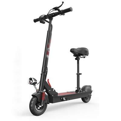 SOAR Patinetes para Niños E-Scooter rápido hasta 18 km/h, a 20 km-30 km de Largo Alcance, con Asiento portátil y Plegable de E-Scooter for Adultos y Adolescentes (Color : Black)