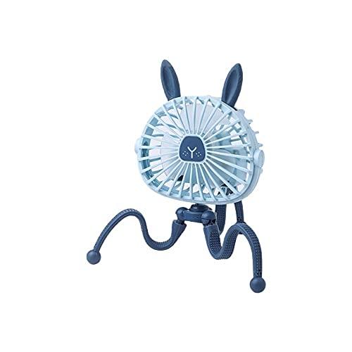 FHSMRING Clip de Ventilador de Pulpo en el Ventilador de Cochecito con refrigerador de Aire portátil Ligero Pequeña Herramienta de enfriamiento Personal 3 Velocidad 360 Rotación pequeño Ventilador