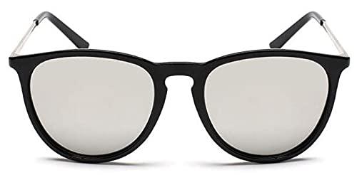 Gafas De Sol Gafas De Sol Clásicas para Mujer, Hombre, Retro, para Conducir Al Aire Libre, Gafas De Sol, Espejo, Gafas para Hombre Y Mujer, Sombra Uv400, Blacksilver