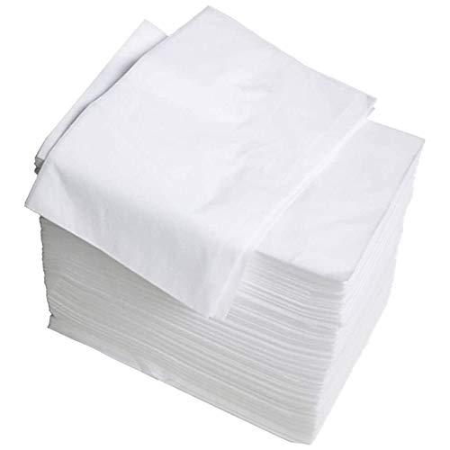 POFET Lot de 100 alèses jetables, 70 x 170 cm, pour lépilation à la cire, beauté, incontinence, adultes et personnes âgées – Blanc