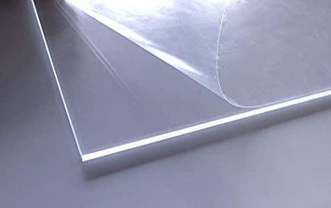 Vidrio acrílico Cuadros Lifestyle PMMA, transparente, resistente a los rayos UV, ambos lados protegidos con lámina, cortado, 4mm de grosor (30x 30cm, 2unidades)