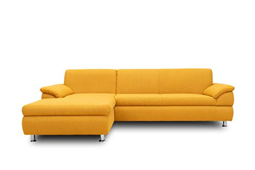 DOMO Collection Ecksofa Bounty | L-Form Eckcouch | 266x172x82 cm | Wohnlandschaft Polsterecke Sofa Garnitur in gelb
