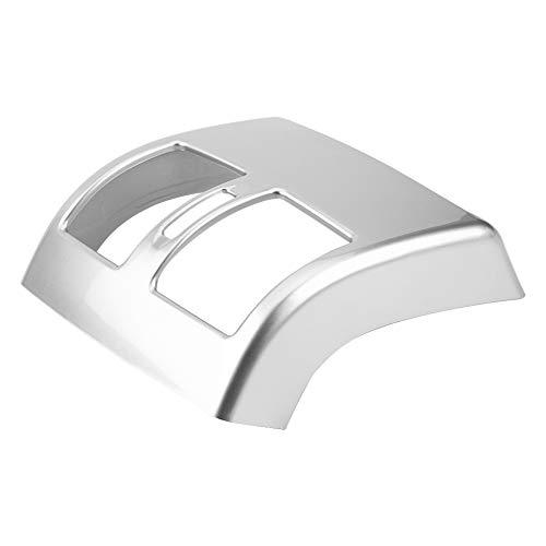 Deror Heckblende Klimaanlage Entlüftungsauslass Rahmenverkleidung für Mercedes Benz C-Klasse W204 2008-2013 Silber