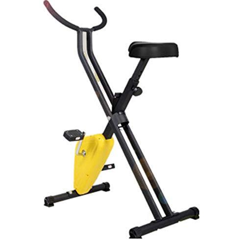 Gvqng Entrenador Bicicleta Fitness, Equipamiento Deportivo Diferentes Niveles Resistencia y Pantalla LCD, Entrenador de Cardio Ideal, Entrenador Interior Plegable para Uso DoméStico, Apto para Todos