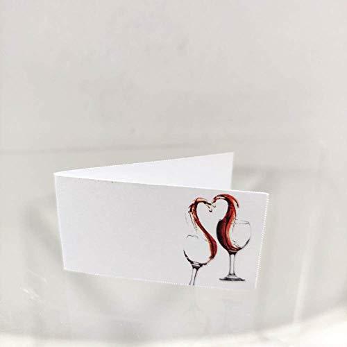 Il Villaggio degli Sposi s.a.s. 20 Bigliettini bomboniera Matrimonio Tema Vino