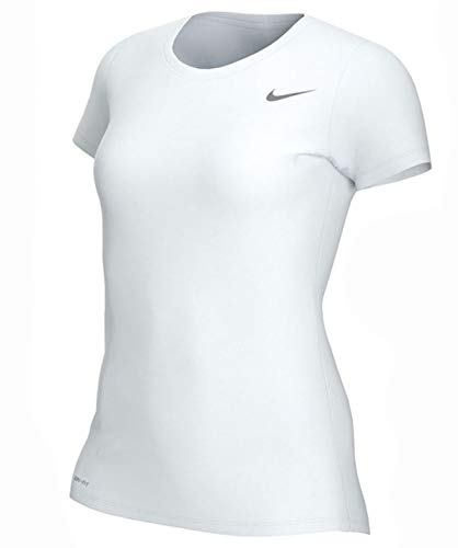 Nike Women's Shortsleeve Legend T-Shirt nkCU7599 100 (Medium) White/Grey