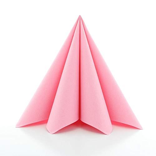 Sovie Home Linclass®Airlaid Servietten 40x40 cm   Falttechnik   ideal für Babyshower und Party   Rosa   12 Stück