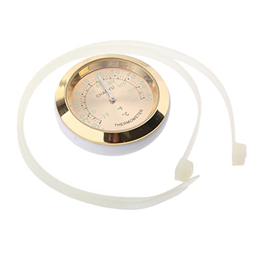 B Blesiya Medidor de temperatura universal para moto, color dorado