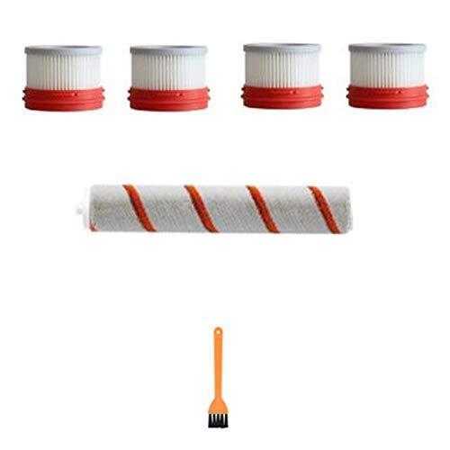 KTZAJO 6 unids para Mijia Dreame V9 V10 de mano Partes de aspirador Accesorios cepillo rodillo cepillo elemento filtro