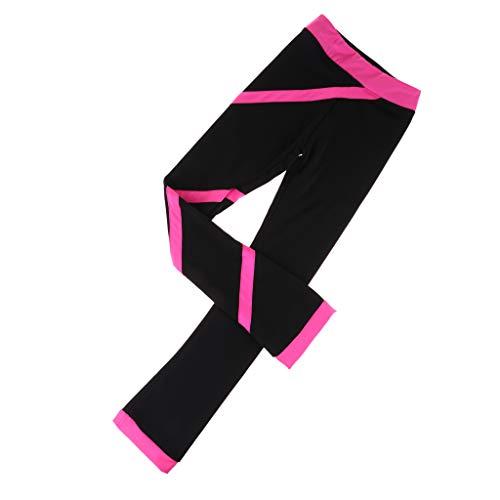 Pantalones de Patinaje sobre Hielo Transpirables para Niñas Altura 100-165cm, Ropa para Patinaje Artístico de Moda - ROSEO 130cm